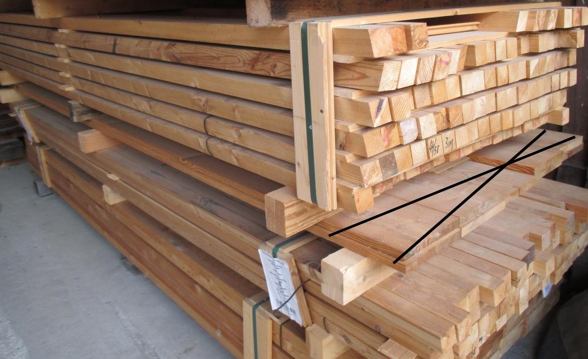 Lärche Rhombus 44 x 58 mm B C Sortierung Holz Allesch