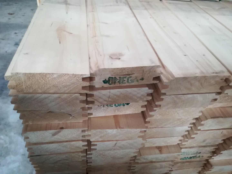 Fichte Doppel Nut-Ferder 40 x 120 - Allesch