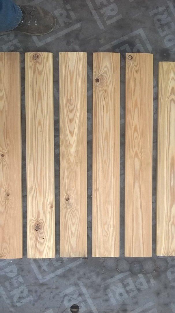 sibirische l rche terrassen dielen 27 x 116 leicht gerundet. Black Bedroom Furniture Sets. Home Design Ideas